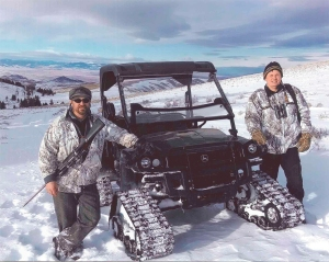Congressman Steve Daines R.Mont.) on his first wolf hunt.